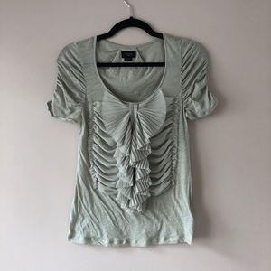 Anthropologie deletta ruffle bow T-shirt